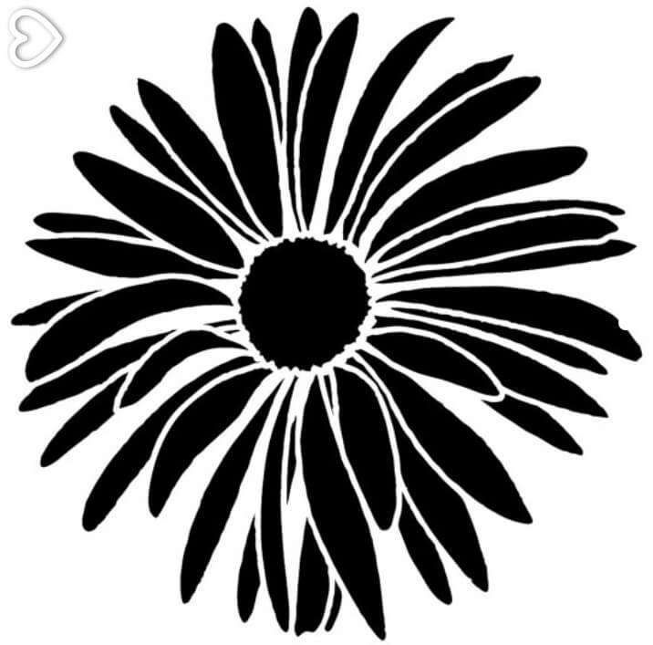 Daisy Clipart Silhouette Flower (716 x 707 Pixel)
