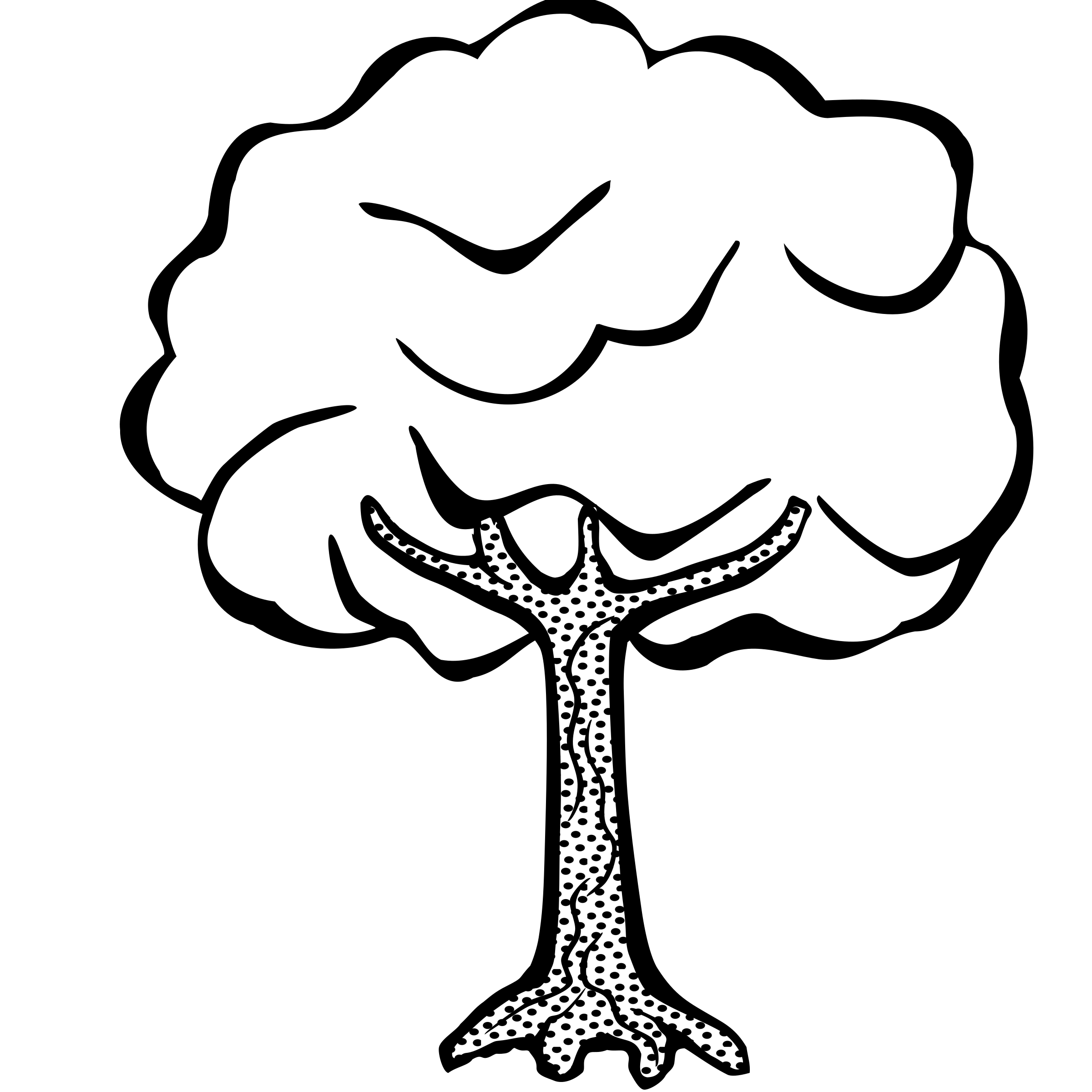 simple tree clipart black and white