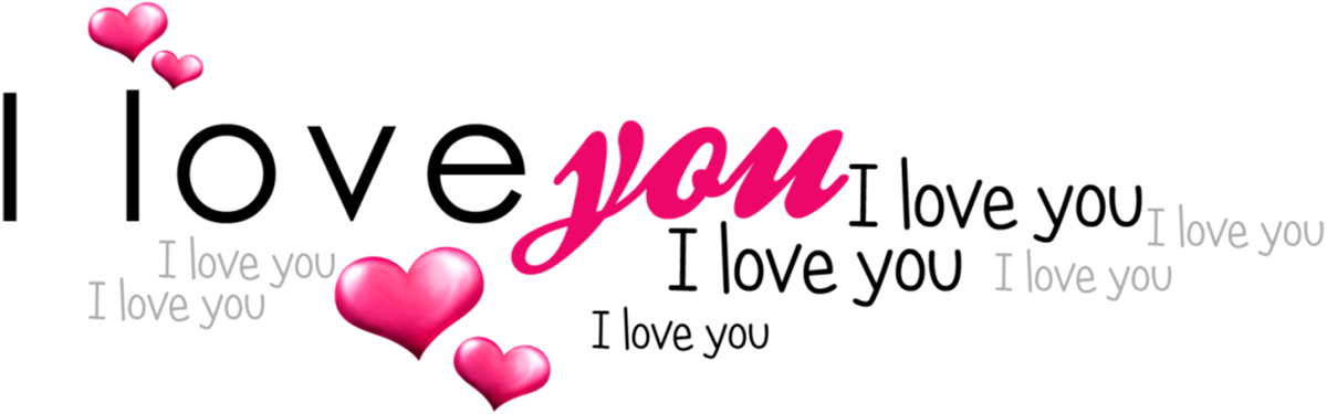 I Love You Text png February clipart
