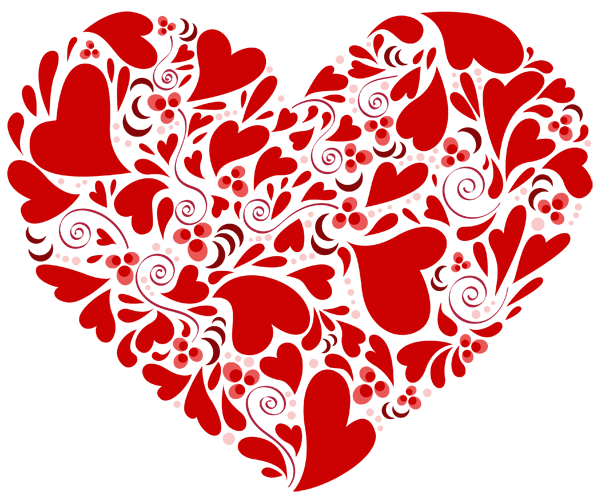 Heart made out of hearts clipart