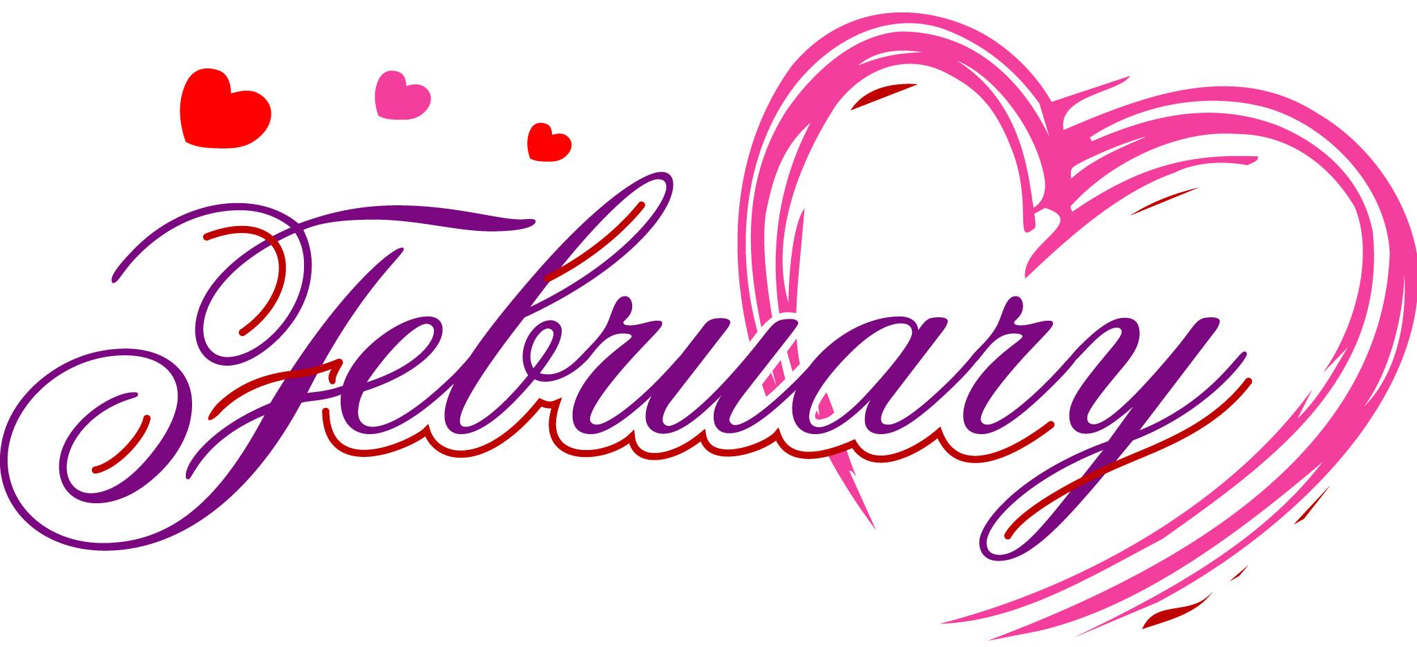 february text clipart