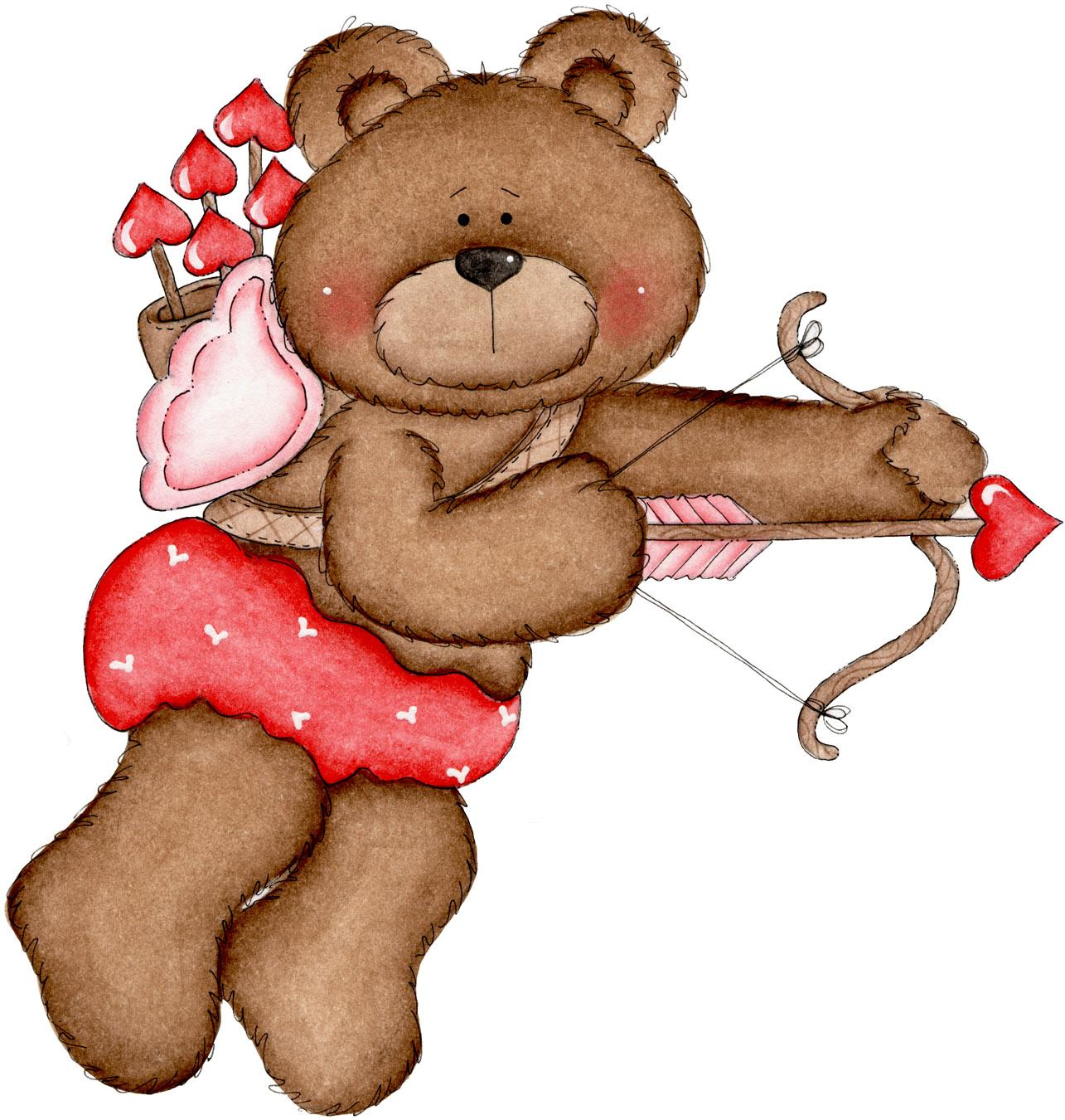 february teddy bear clipart