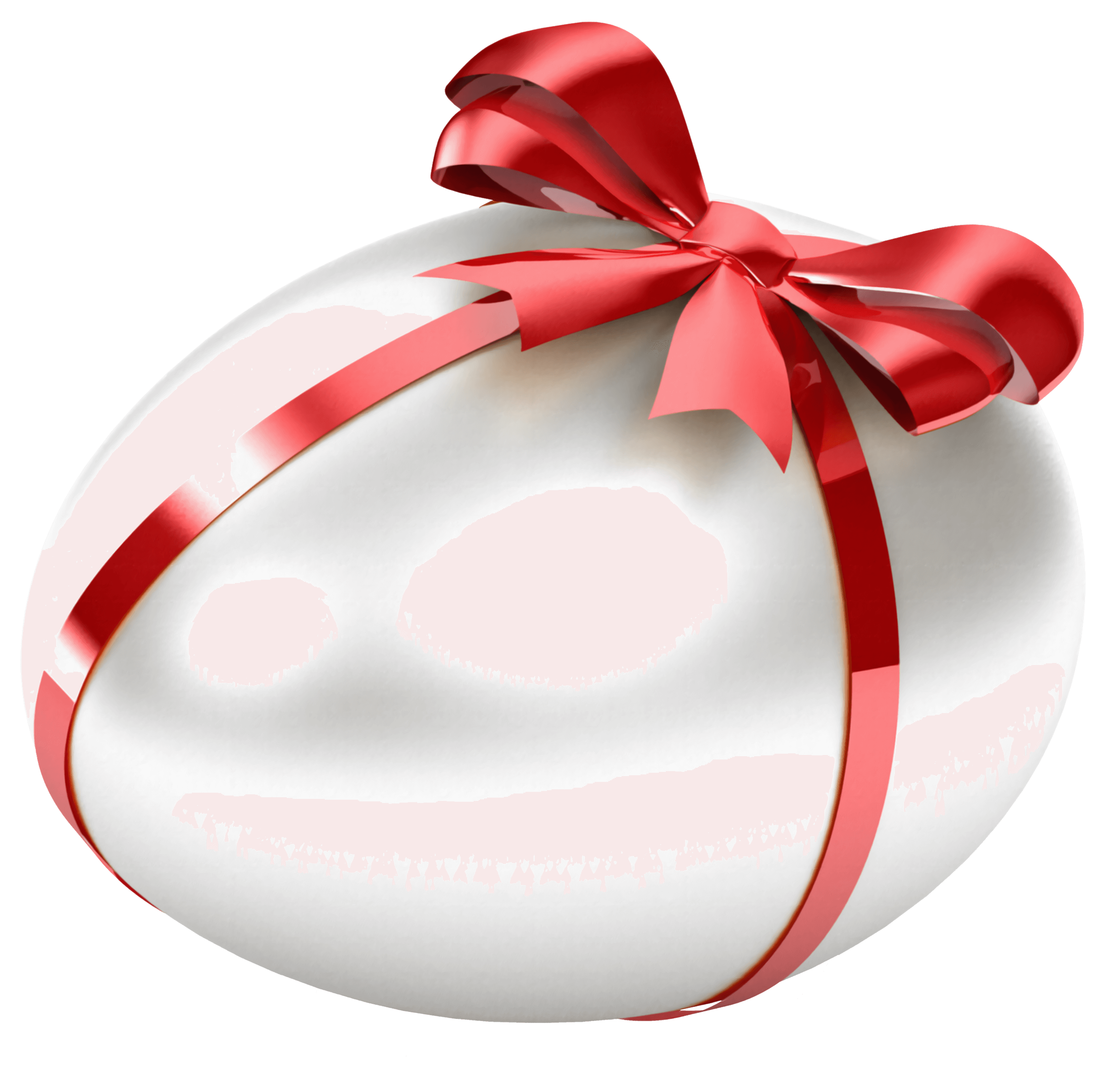 White_Easter_Egg_with_Red_Bow_Transparent_PNG_Clipart