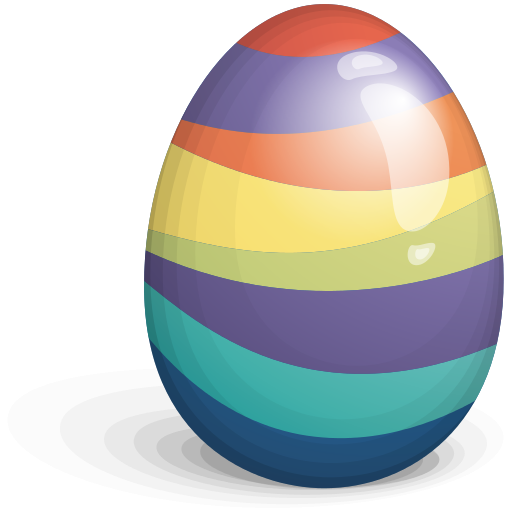 Beautiful Easter Eggs PNG