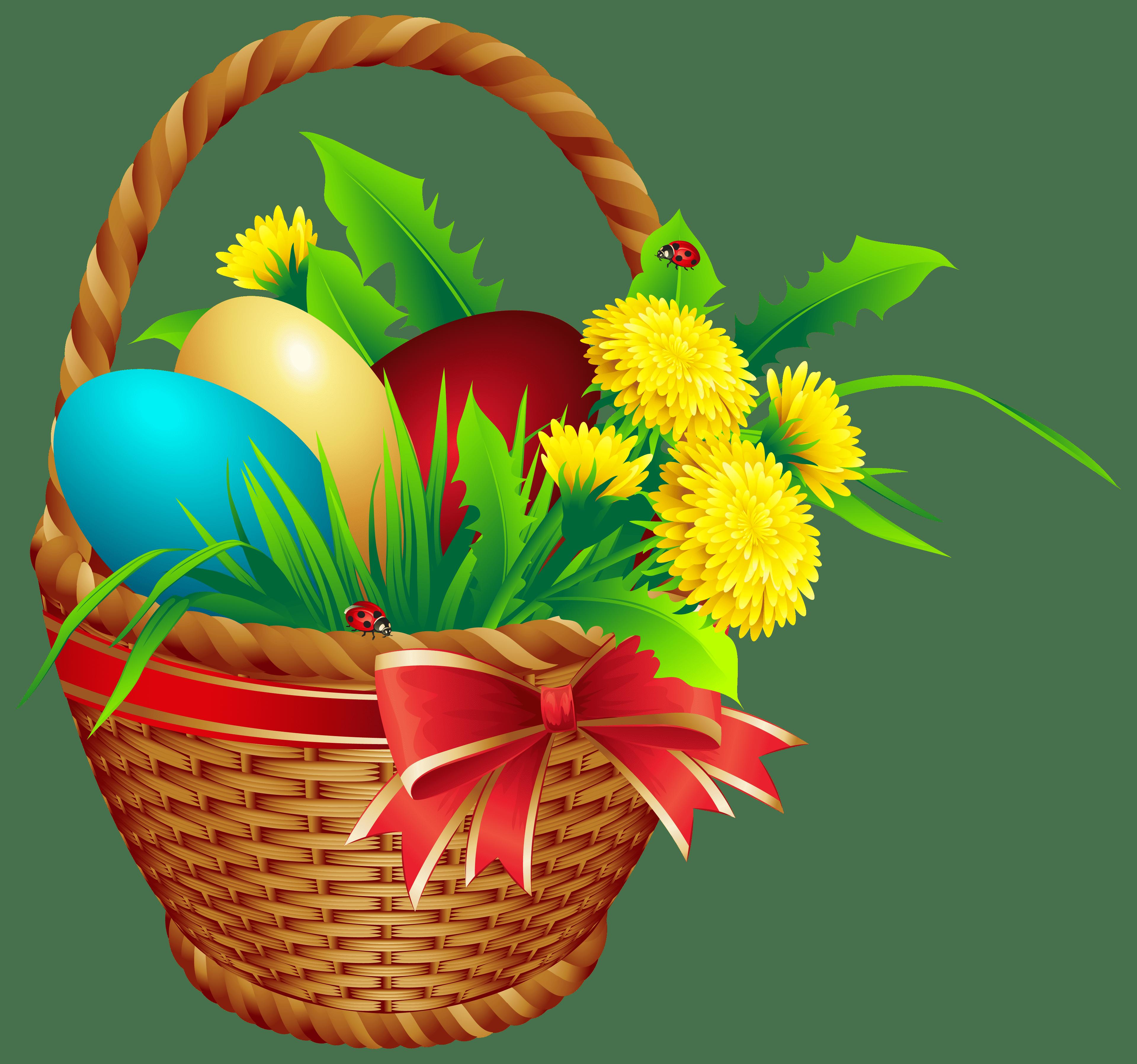 Easter Basket PNG Clip Art Image