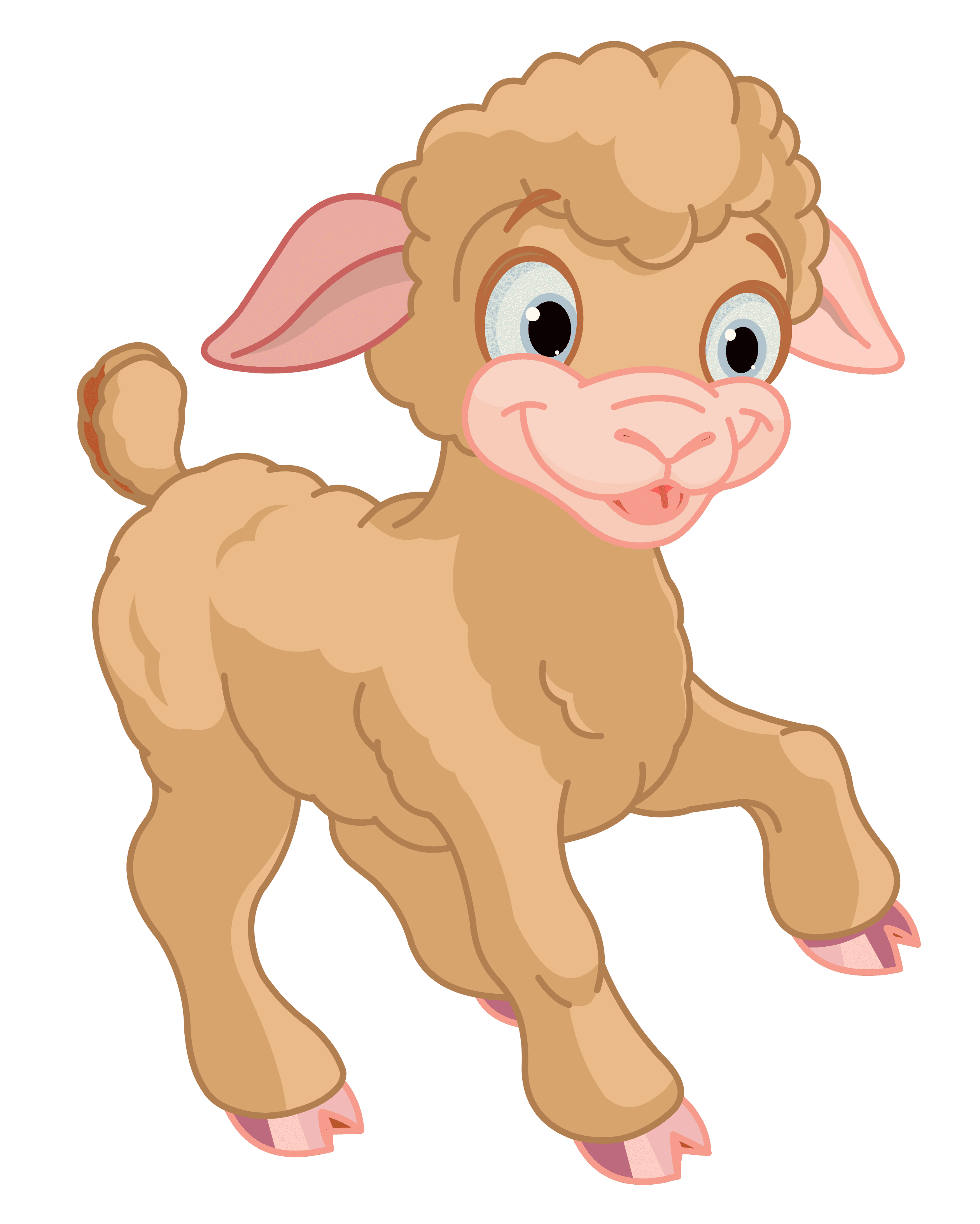 Cute Little Lamb PNG Clipart