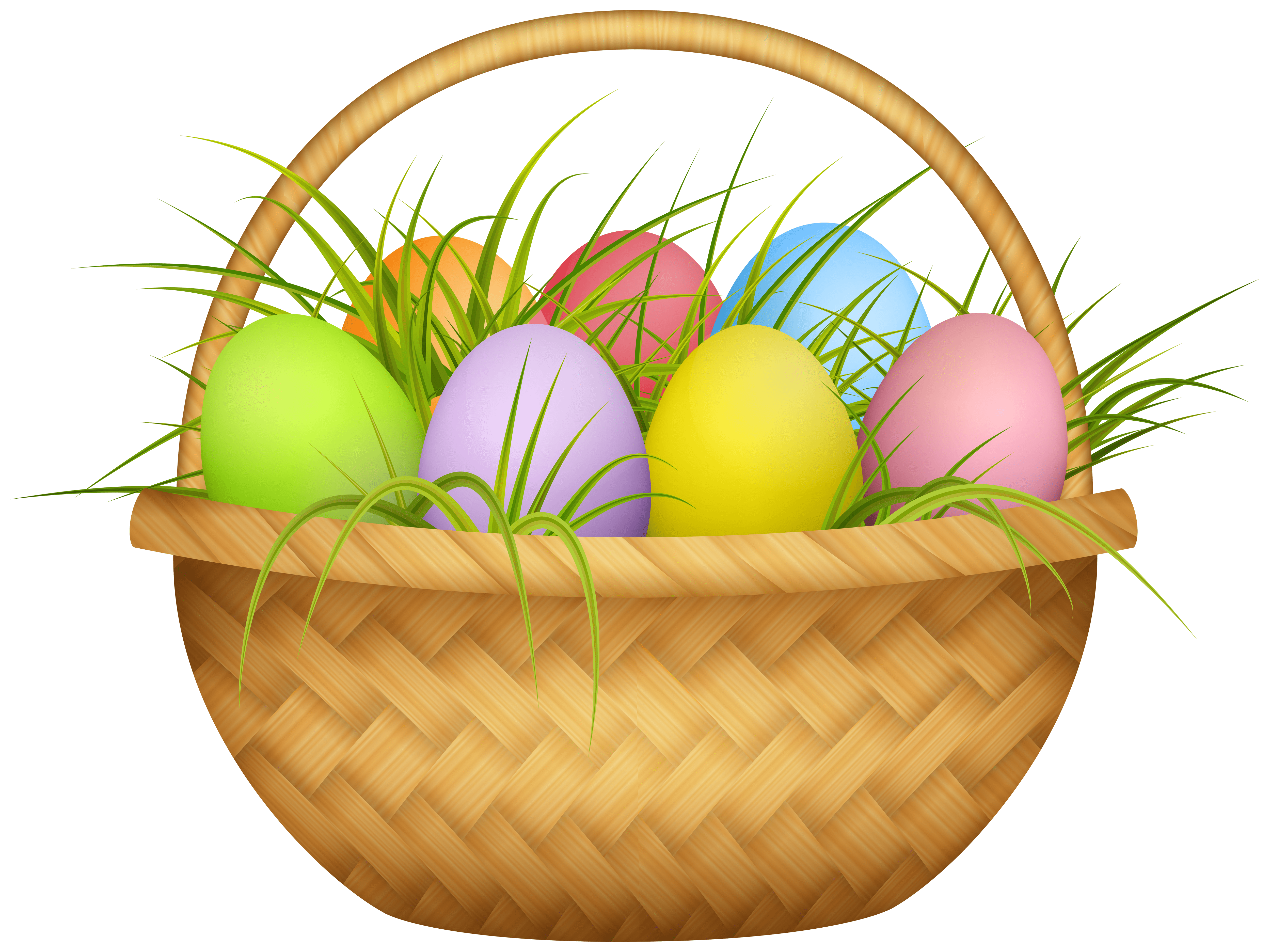Easter Basket Transparent PNG Image
