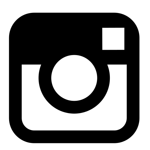 Instagram black. And white logo png
