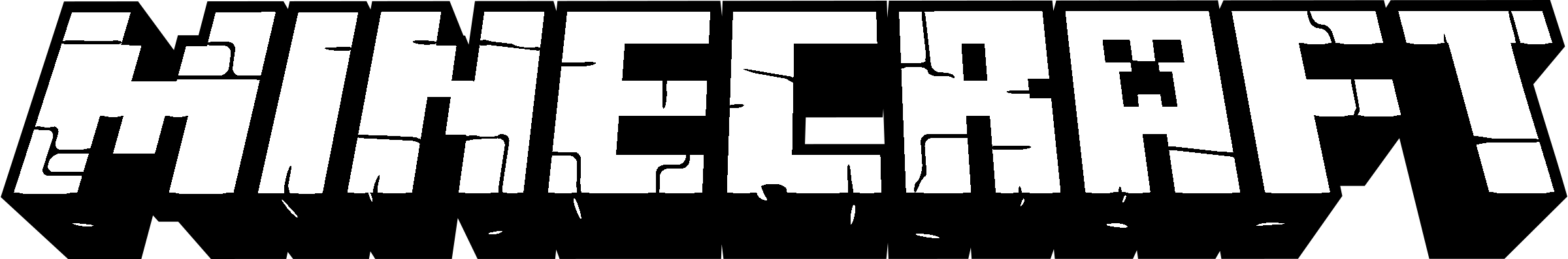 Minecraft Logo Black And White