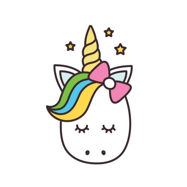 Head Cute Unicorn Clipart
