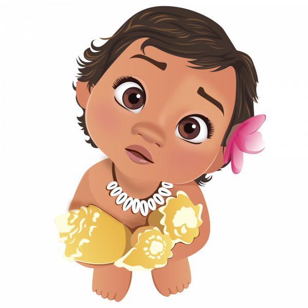 Cartoon Baby Moana Png