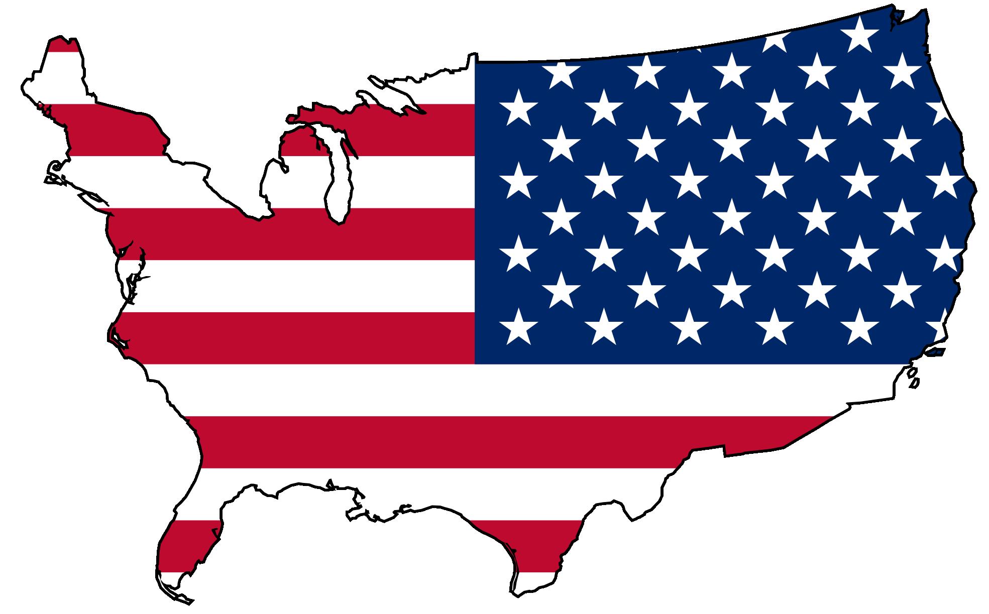 Usa Flag Map Png 2