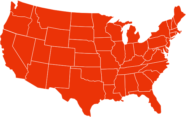 Blank Gray Usa Map White Lines Hi