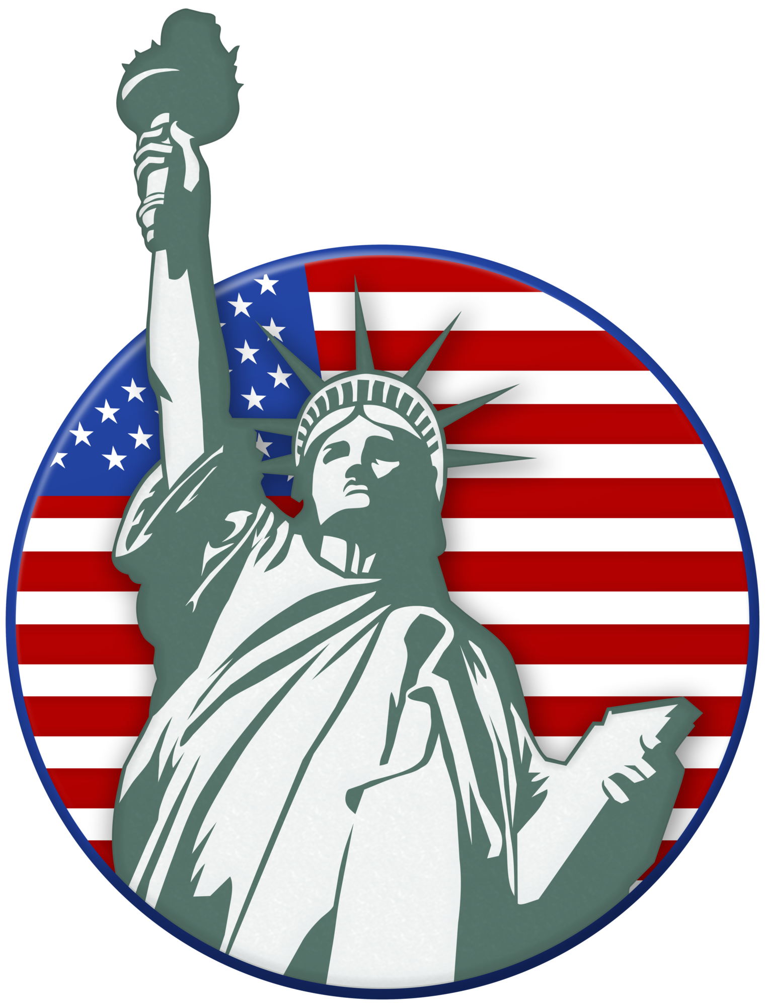 Statue Of Liberty USA Stamp PNG Clip Art Image