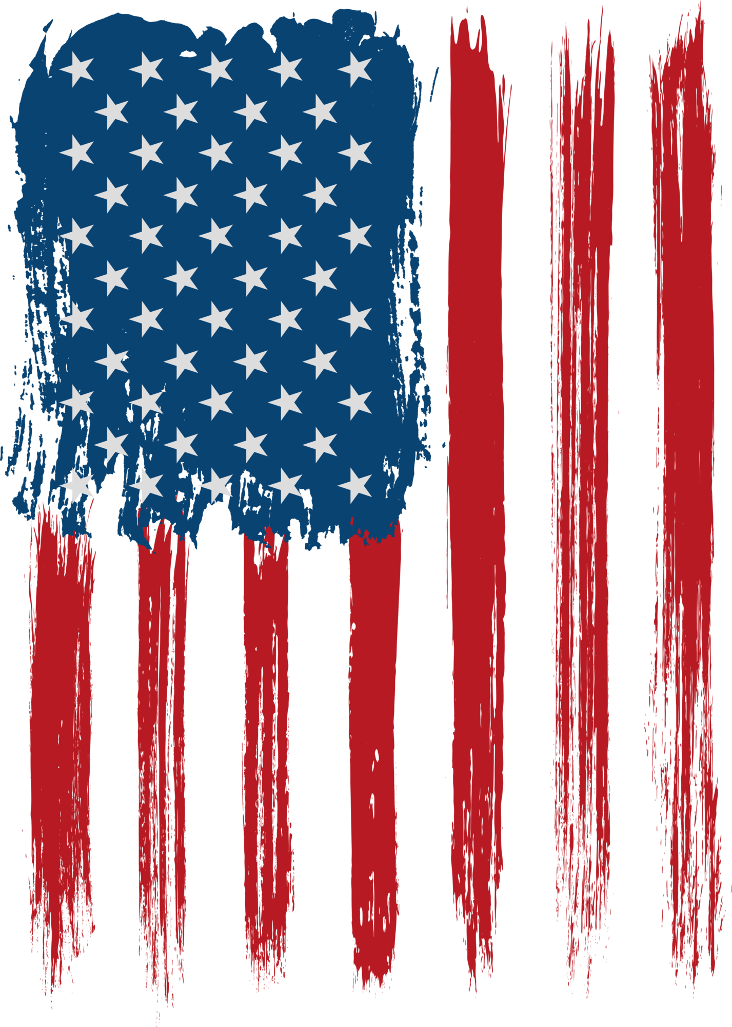 USA Flag Decoration Transparent Clip Art Image