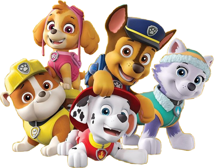 paw patrol all character png kids 3