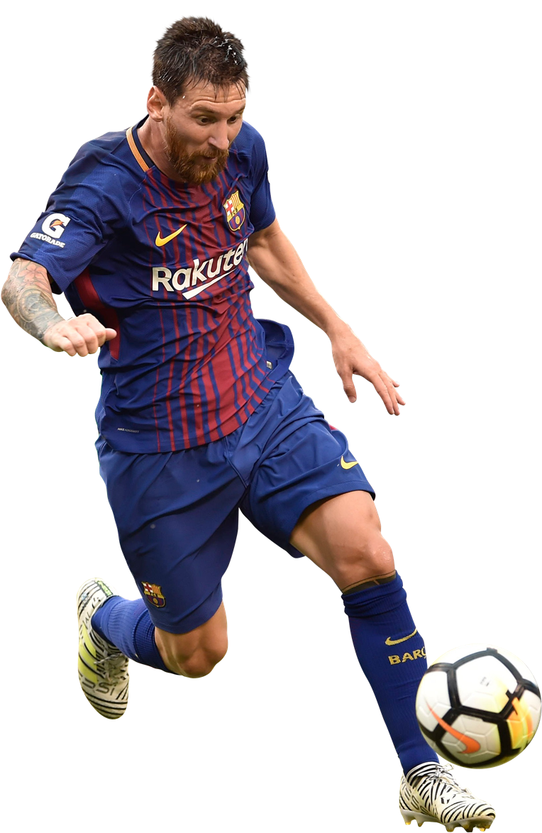 lionel messi running with ball barcelone png