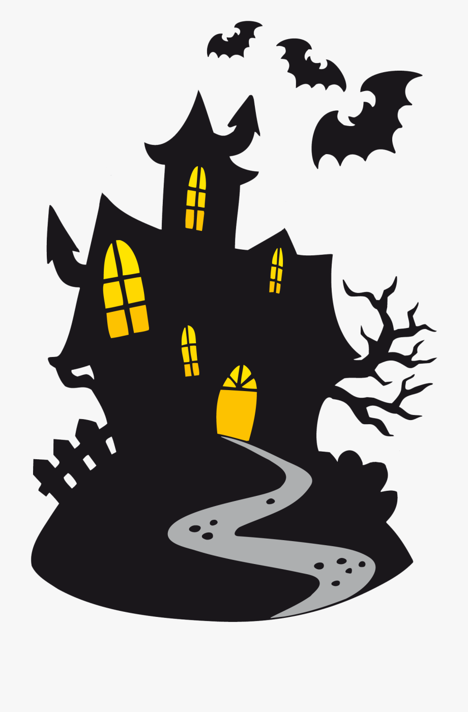 scary halloween clipart halloween haunted house cartoon