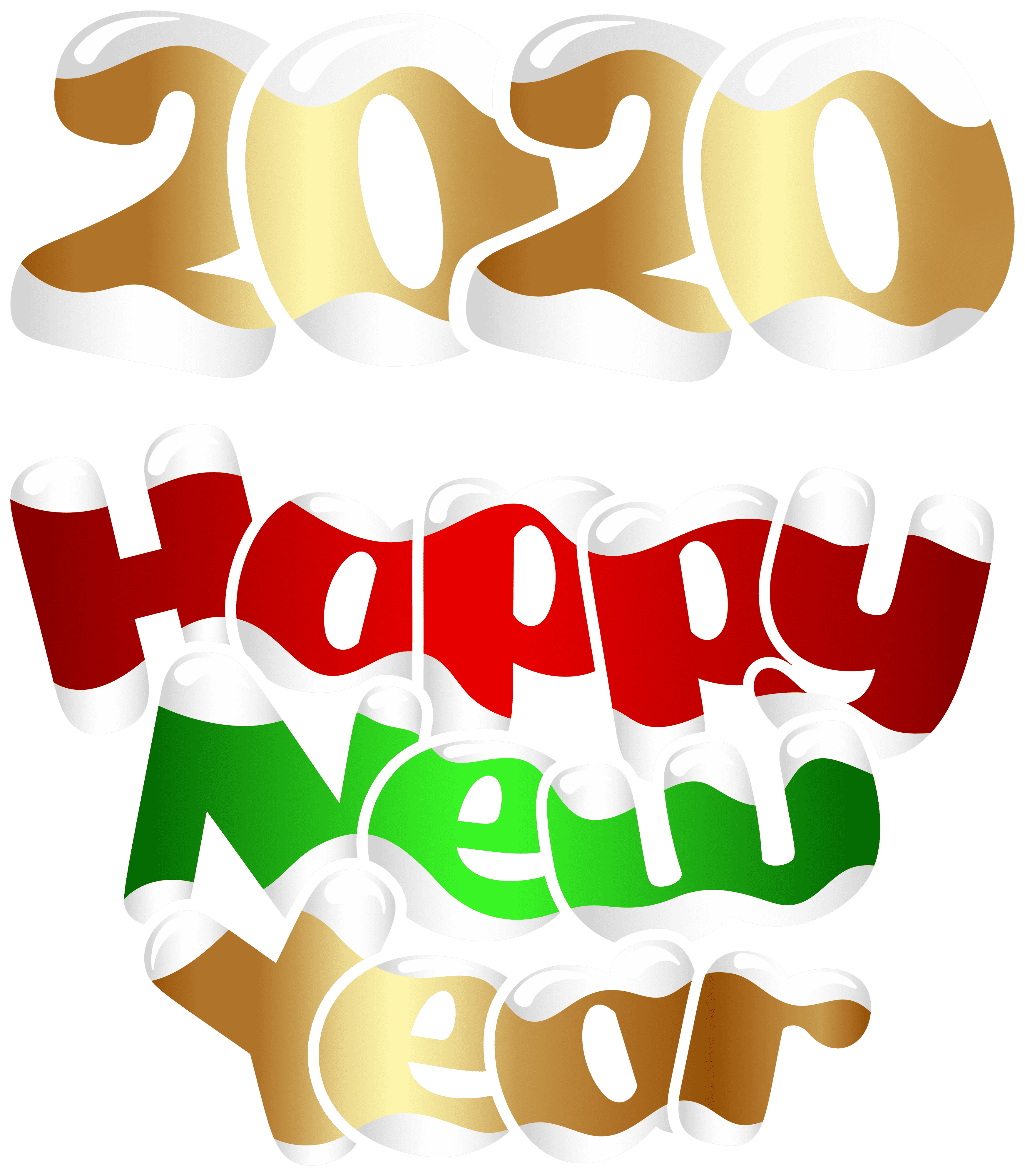 2020 Happy New Year Png Clip Art Image