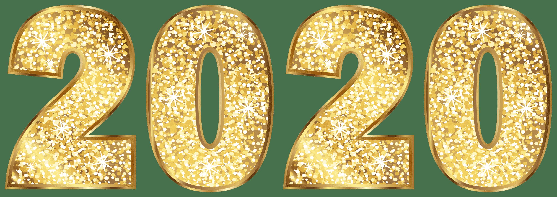 2020 Golden Transparent Clip Art Image