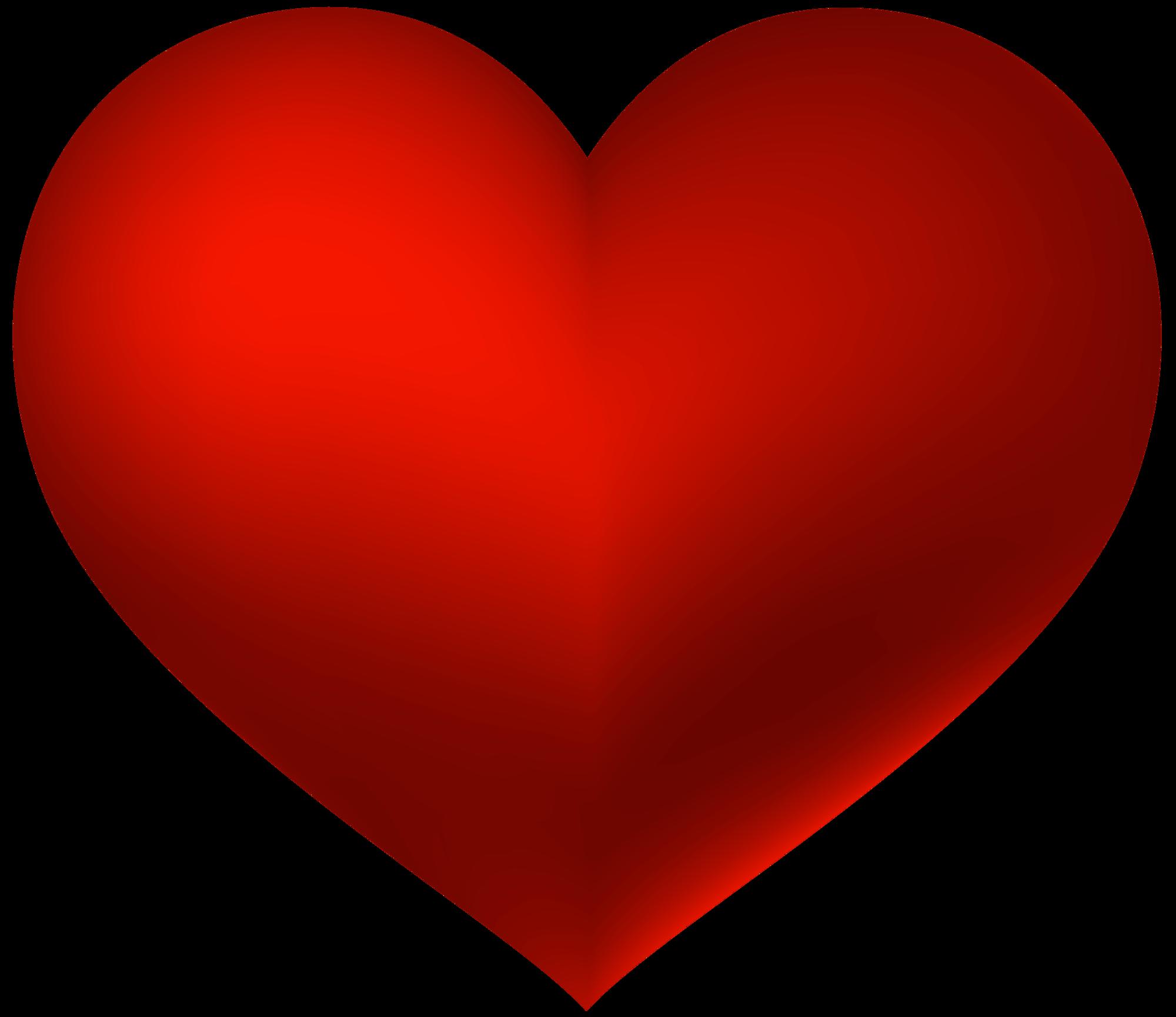 Red Heart Transparent PNG Clip Art Love