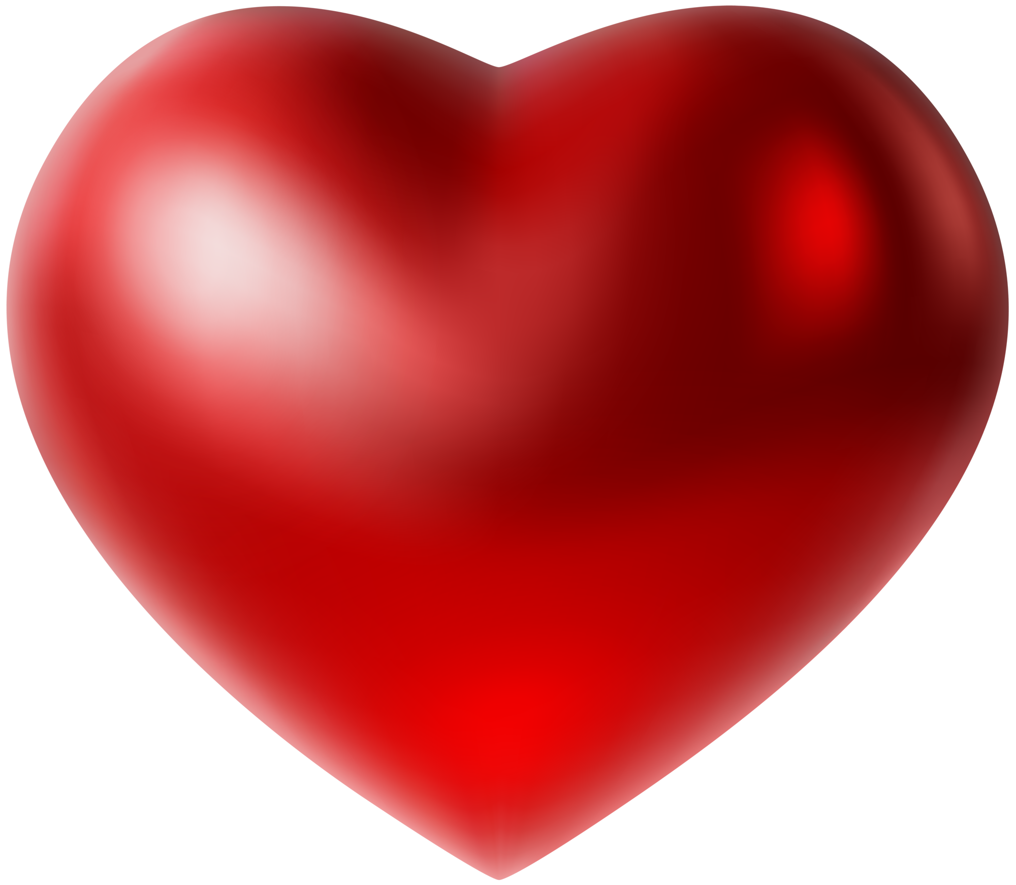 3D Red Heart PNG Clip Art Image
