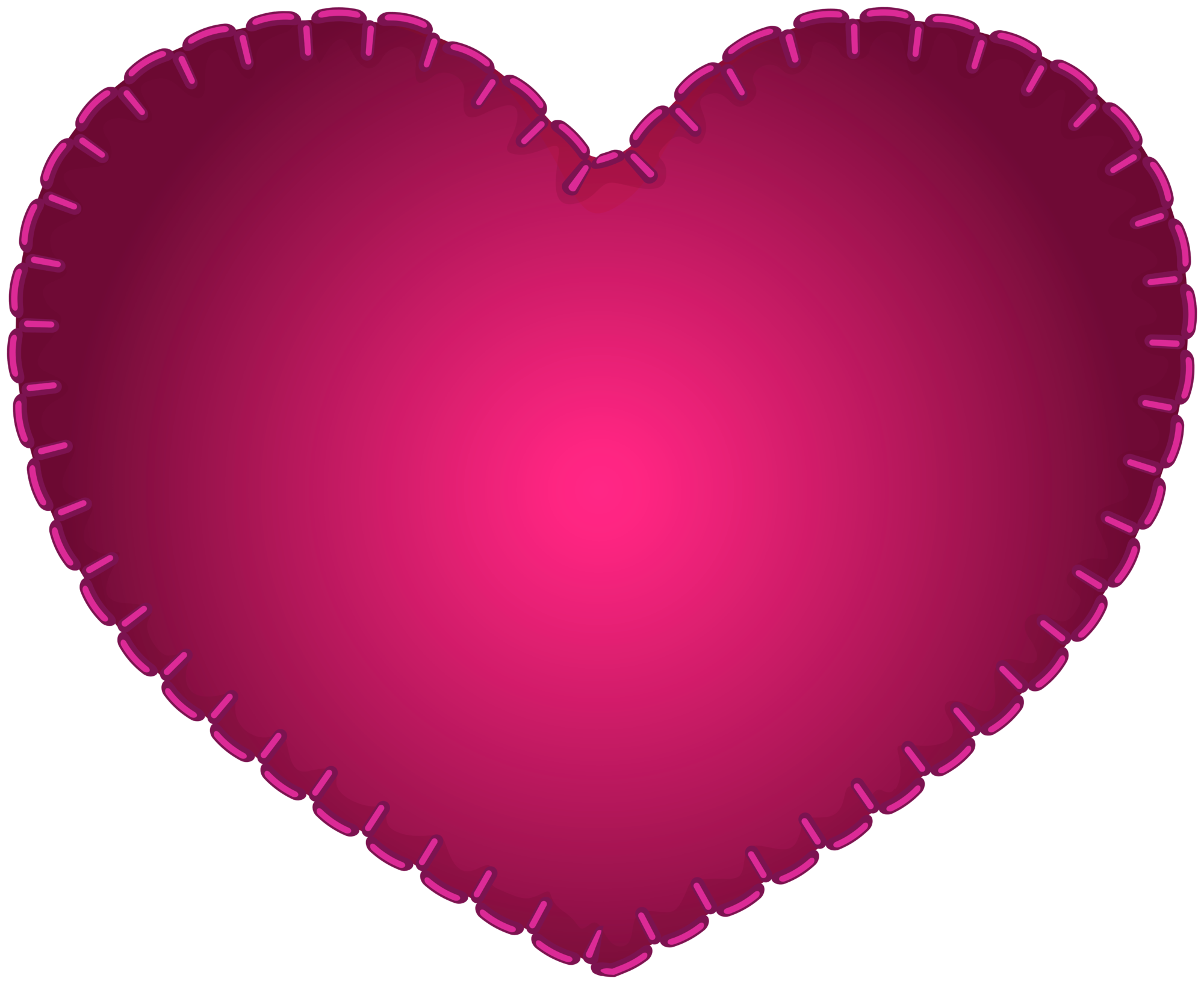 Pink Heart Sewing Style PNG Clipart