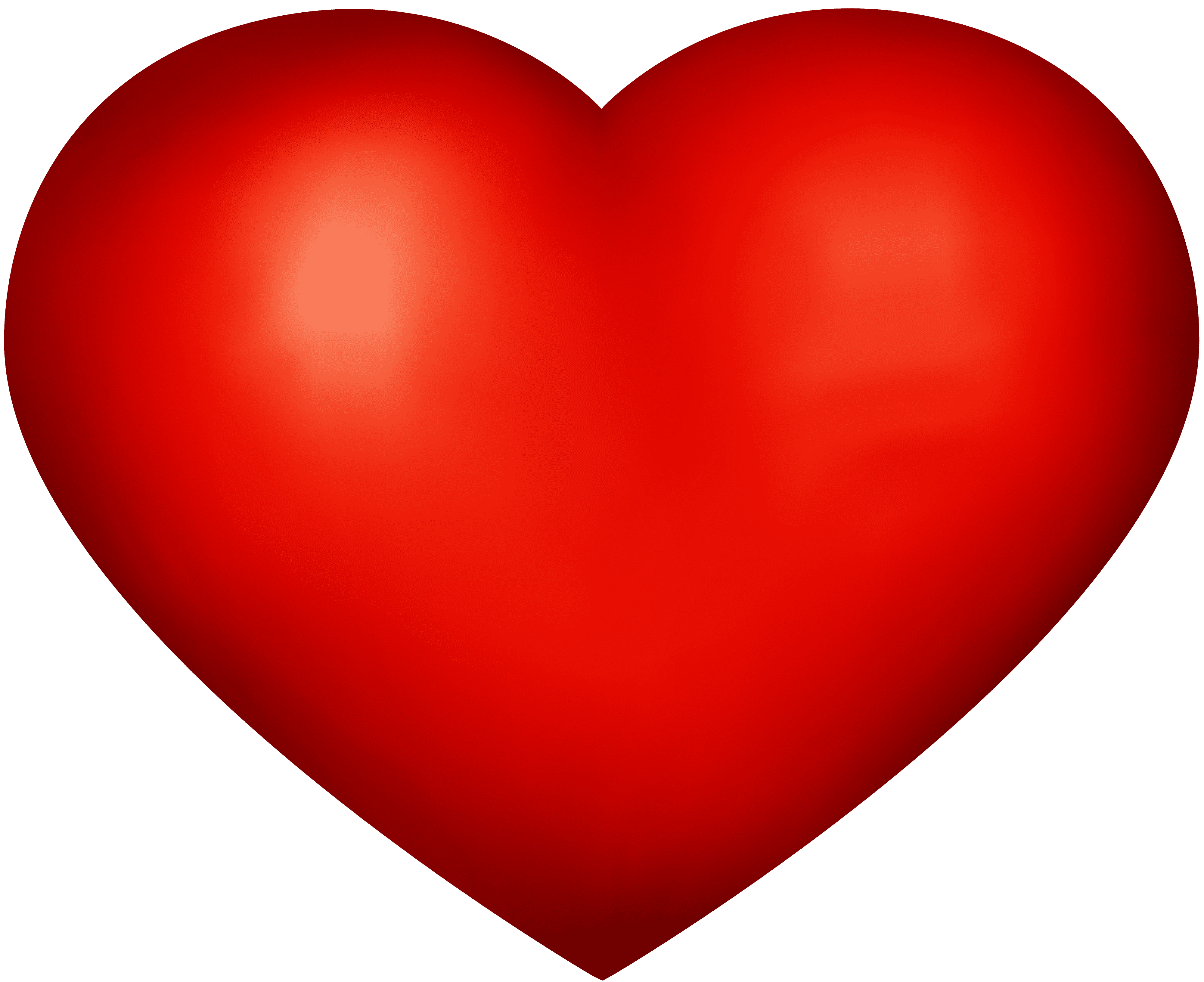 Heart Red Png Clip Art Image