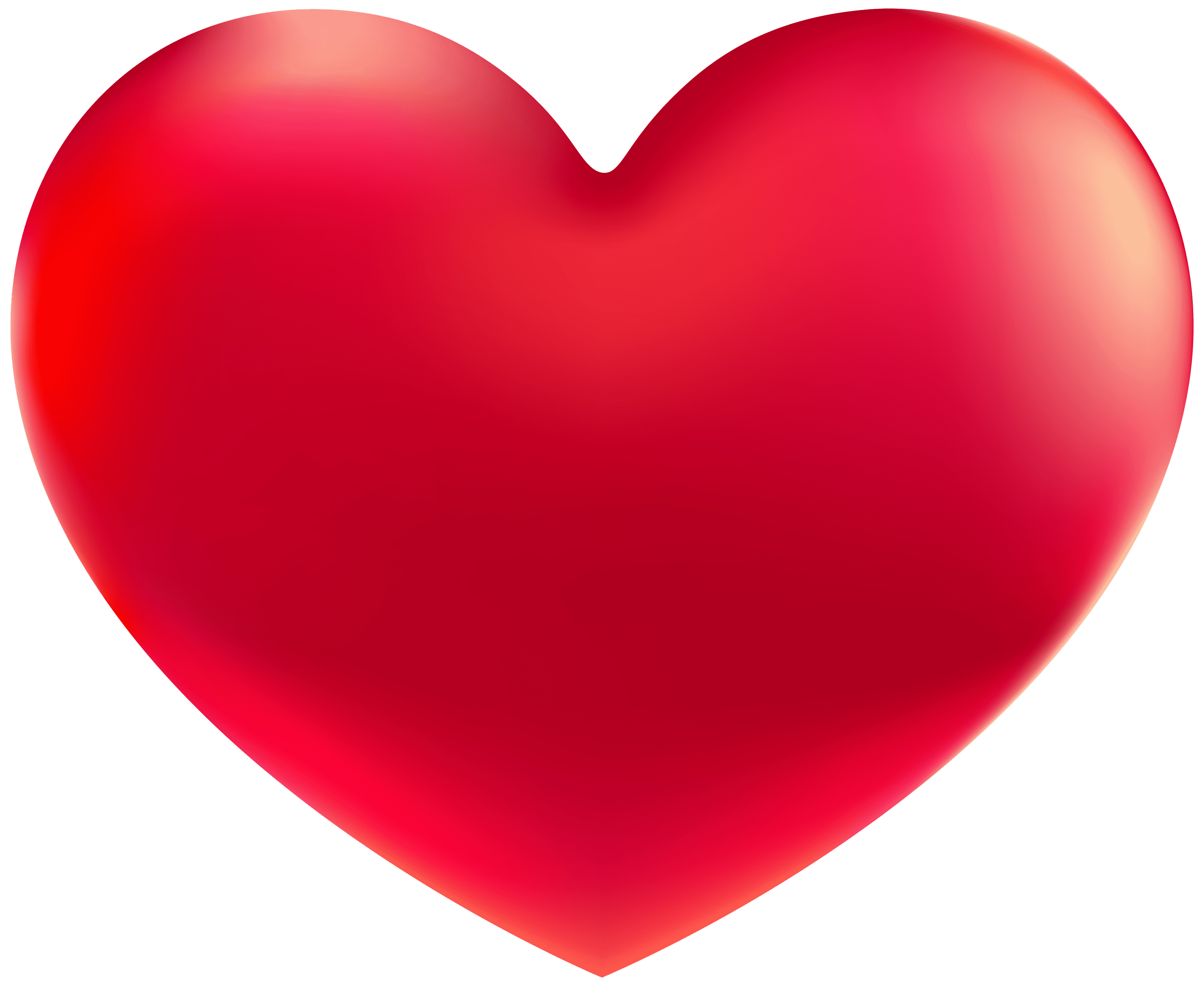 Red Heart Png Clipart Image