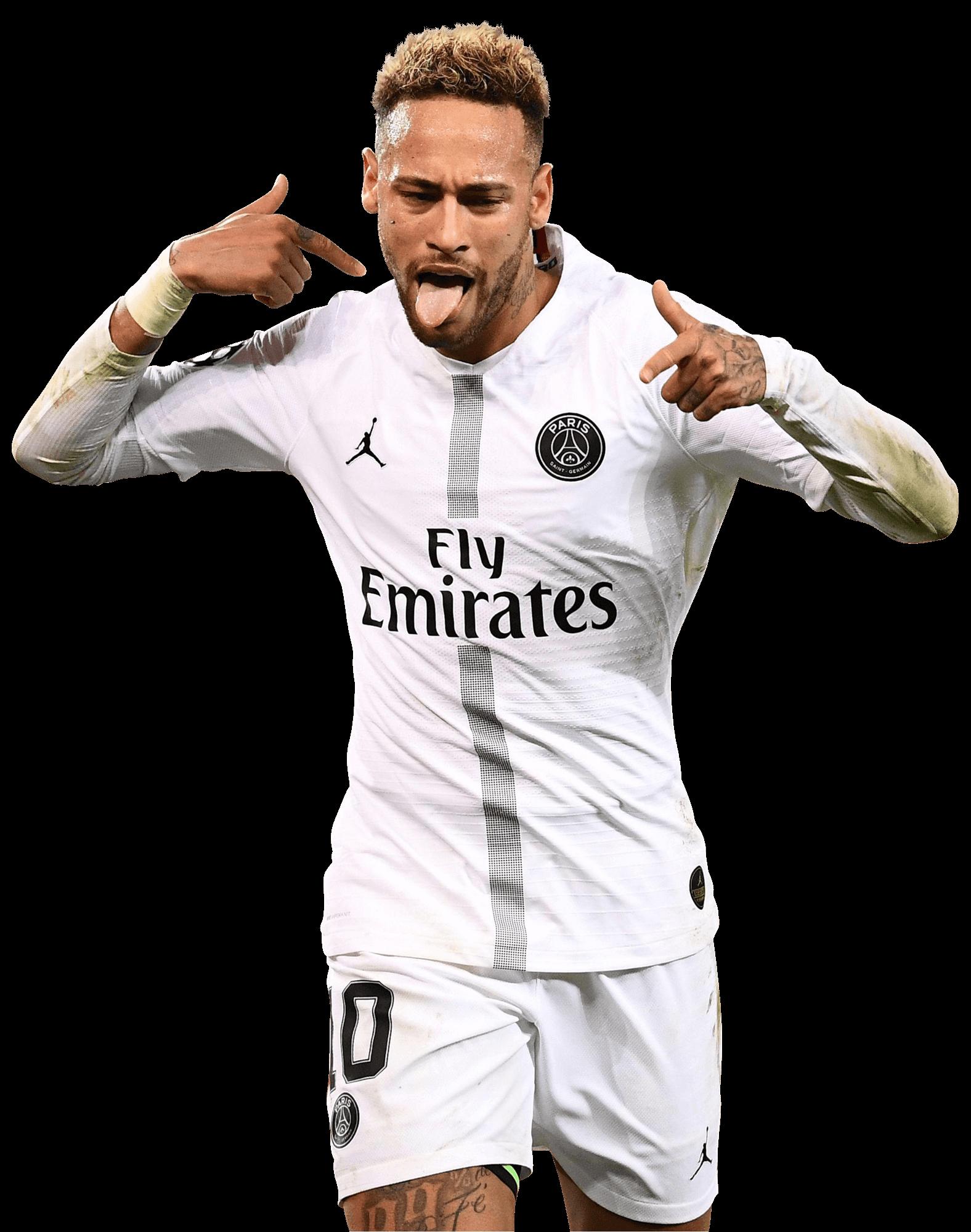 Neymar White PSG Jersey Png