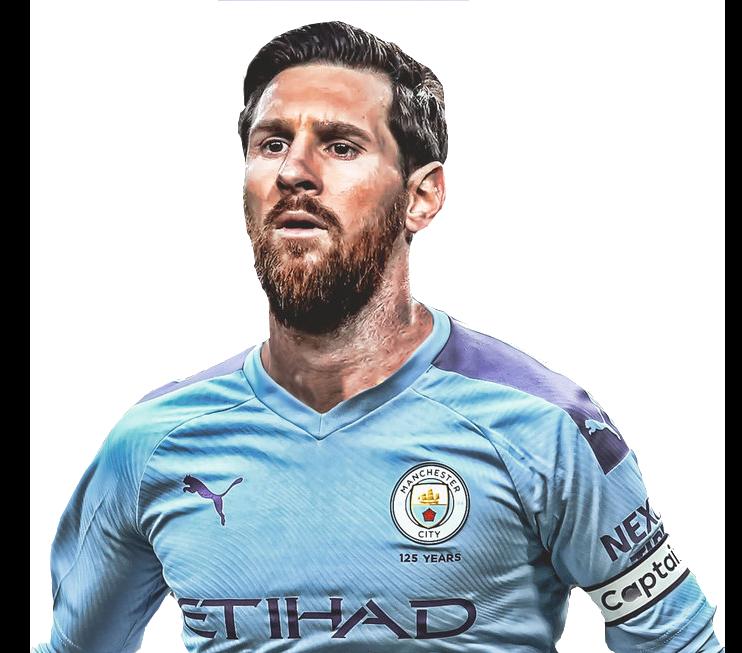 Lionel Messi Manchester City Png Transparent