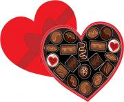 Yummy clip art of a chocolate cake valentines chocolate and