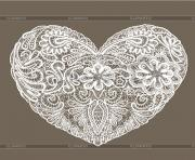 heart shape is made of lace doily element for valentines day or QGSYSE clipart