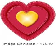 17640 gold and pink doily valentines day heart clipart by djart etuAD2 clipart