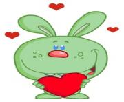 lover clipart a_daydreaming_hare_in_love_holding_a_heart_valentine_for_his_lover_0521 1005 1210 4614_SMU