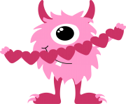 Photos of valentine monster clip art monster valentine