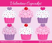 valentine s cupcakes clipart digital clip art by mareetruelove Miwrqx clipart