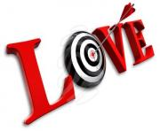 love clipart love red word and conceptual target 3d clipart 89029292