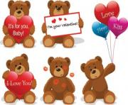 Love for teddy bear clip art free vector in encapsulated