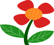 red flower clipart images