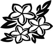 flowers clipart black and white hawaiian flowers