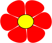 red flower png clipart