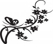 flower border clipart black and white
