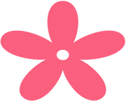 pink flower clipart light