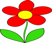red flower clipart
