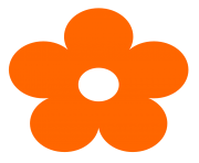 original clipart orange Flower clip art