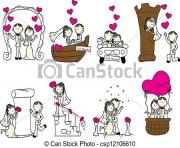 cute wedding couple with pink hearts csp12106610 search clipart vYo3v2 clipart