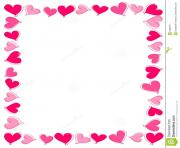 pink hearts border royalty free stock photography image 16886787 UUdjHH clipart