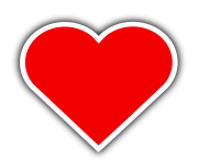 heart png with border