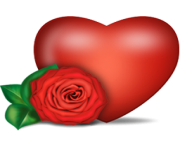 heart png with rose